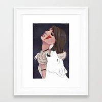 princess mononoke Framed Art Prints featuring Princess Mononoke by Chelsea Hantken