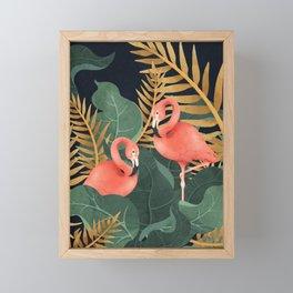 Two Flamingos Framed Mini Art Print