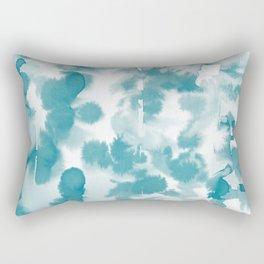 Aquatica Teal Rectangular Pillow