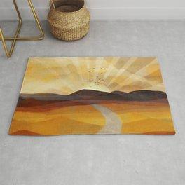 Desert in the Golden Sun Glow II Rug