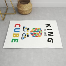 King Of The Cube Rubik's Rubiks Cube Rubik Cube Retro Colorful son Cube Game math kid gift Fun Gift for Cuber Spinning Rubix Rug