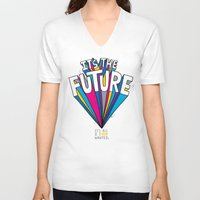 future V-neck T-shirts featuring The Future by Chris Piascik