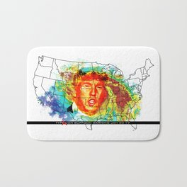 Trump Buffoon Typhoon Warning Bath Mat
