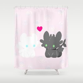 Light Fury & Night Fury LOVE Shower Curtain