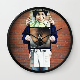 Aretha shaking that ass Wall Clock