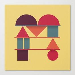 Typography series #M Canvas Print