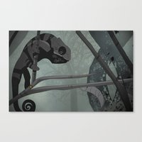 chameleon Canvas Prints featuring Chameleon by Andrew Formosa