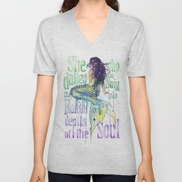 Mermaid : Profound Depths Unisex V-Neck