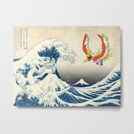 The Great Wave Off the Orange Islands Metal Print
