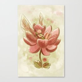 Goblins Drool, Fairies Rule! - Petal Flower Canvas Print