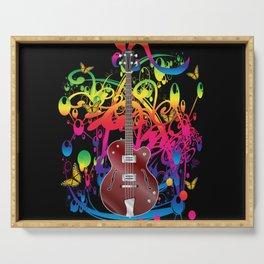 Bass Guitar Color splash Serving Tray