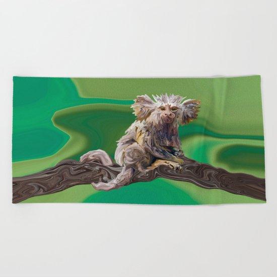Melanie's Marmoset Beach Towel