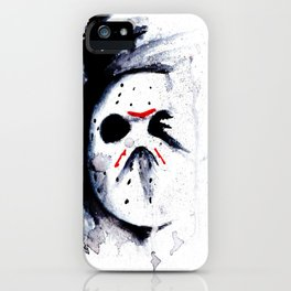 Unstoppable - Jason Voorhees - Watercolor Art Print iPhone Case