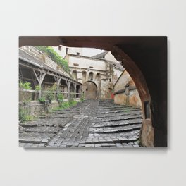 A Passageway in Dracula's Birthplace Sighisoara, Transylvania Metal Print