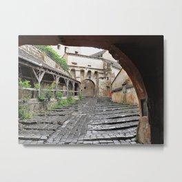 A Passageway in Dracula's Birthplace Sighisoara, Transylvania Metal Print