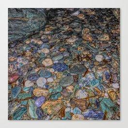 Merlin's cave pebbles Canvas Print