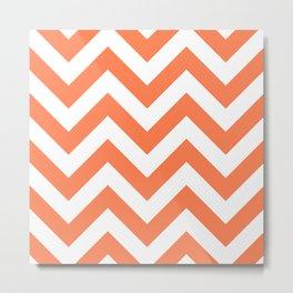 Large chevron pattern / coral Metal Print
