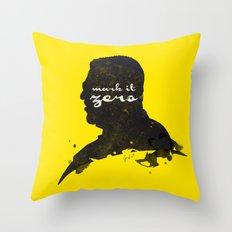 Mark it Zero –Walter Sobchak Silhouette Quote Throw Pillow