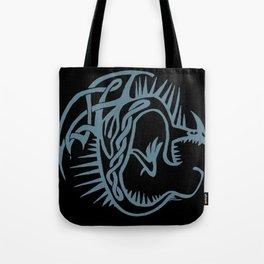 Celtic Knotwork Deadly Nadder (Blue) Tote Bag