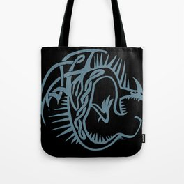 Celtic Knotwork Deadly Nadder (Blue) Tote Bag