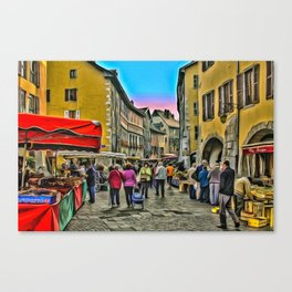 Tuesday is market day Canvas Print