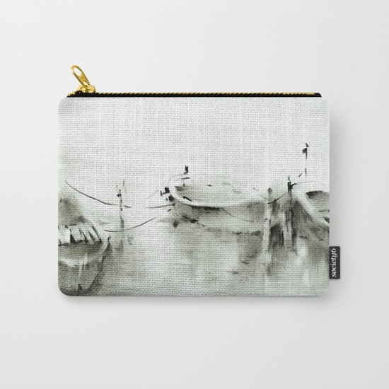 boats on the river Carry-All Pouch