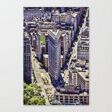 Flat Iron Top View Canvas Print