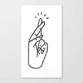 Fingers crosses Canvas Print
