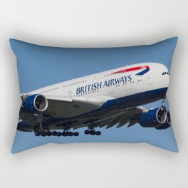 British Airways Airbus A380 Rectangular Pillow