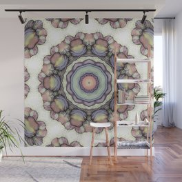 Abstract flowers mandala Wall Mural