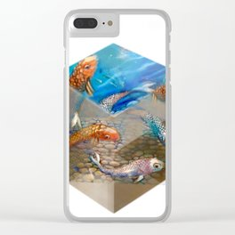 Boxed Koi Clear iPhone Case