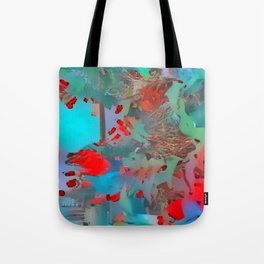Street with Flowers Tote Bag