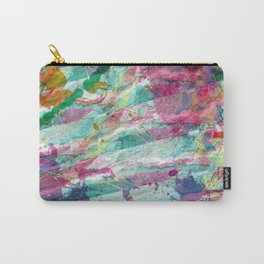Bright Color Splash Abstract Carry-All Pouch
