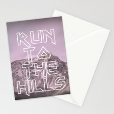 Run To The Hills Stationery Cards