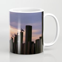 Seagulls Watchin' Settin' Sun Coffee Mug