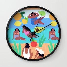 Fruity Beach Wall Clock