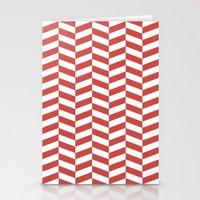 herringbone Stationery Cards featuring Herringbone. by Jake  Williams