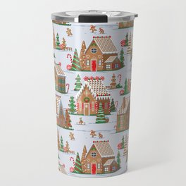 Gingerbread village pattern Travel Mug