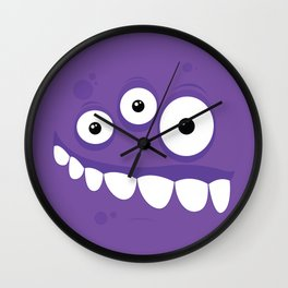 Psychos - Crazy Monsters (Purple) Wall Clock