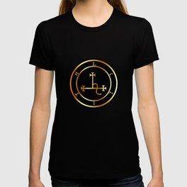 Sigil of Lilith- Female demon Lilith symbol in gold T-shirt