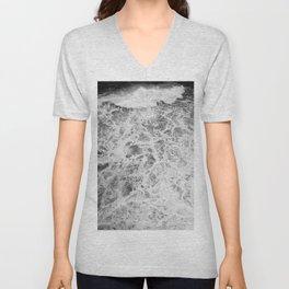 The Waves (Black and White) Unisex V-Neck