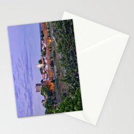 Braganca, Portugal at dusk Stationery Cards