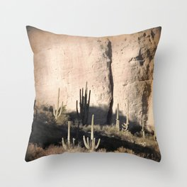 """Cactus Shadow"" by Murray Bolesta! Throw Pillow"