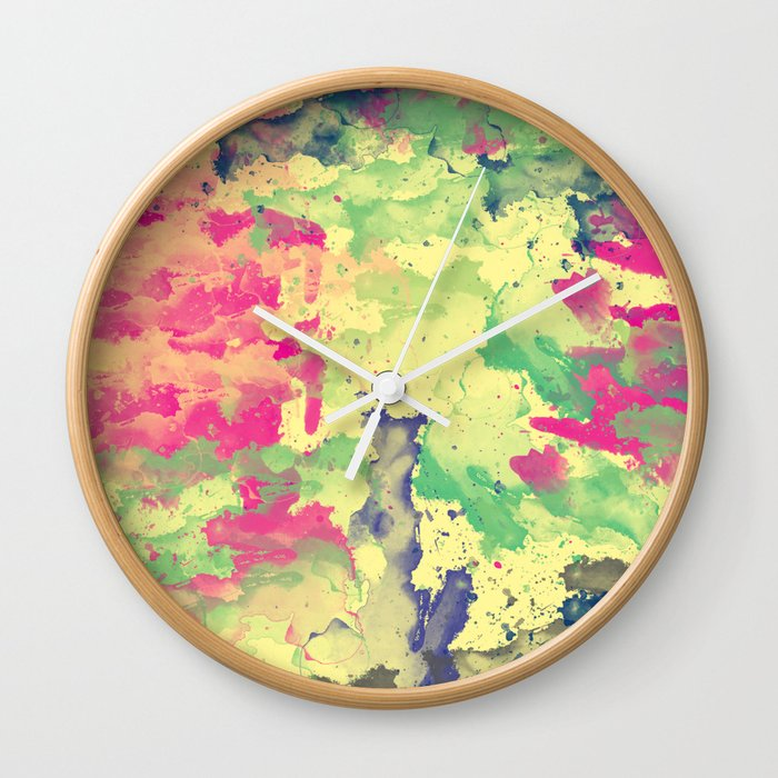 Abstract Painting II Wall Clock
