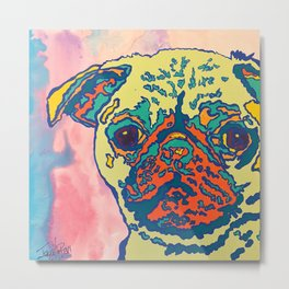 Percy the Pug Metal Print
