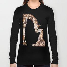 Giraffe mother and baby Long Sleeve T-shirt
