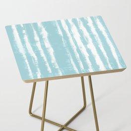 Shibori Stripe Seafoam Side Table