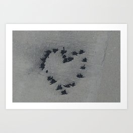 Concrete Heartbeat Art Print