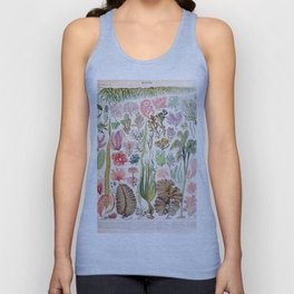 Adolphe Millot - Algues - French vintage poster Unisex Tank Top