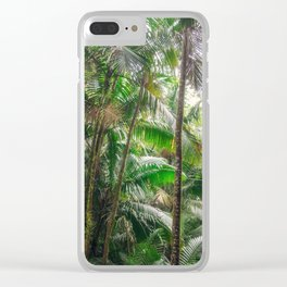 Tropical Forest Clear iPhone Case